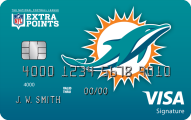 Miami Dolphins Extra Points Credit Card