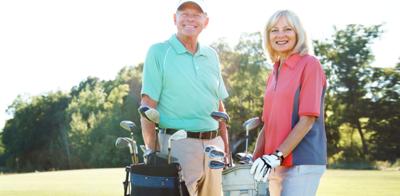 Retired golfing