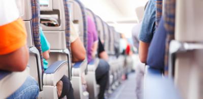 Row of seats airplane