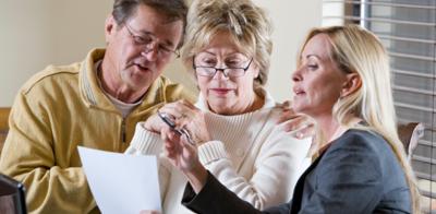 Mature couple retirement planning