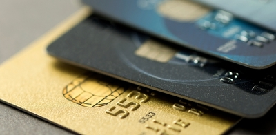 Blurred credit cards